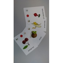 Mazzo di 52 carte PLASTIFICATE formato 20x15 con angoli stondati stampa quadricromia F/R