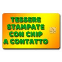 Tessere Stampate con Chip a Contatto